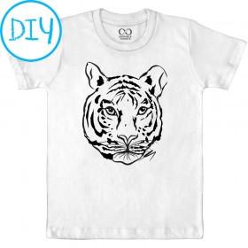 Tiger 1 - Kids T-shirt - DIY Paint Your Tee Kit