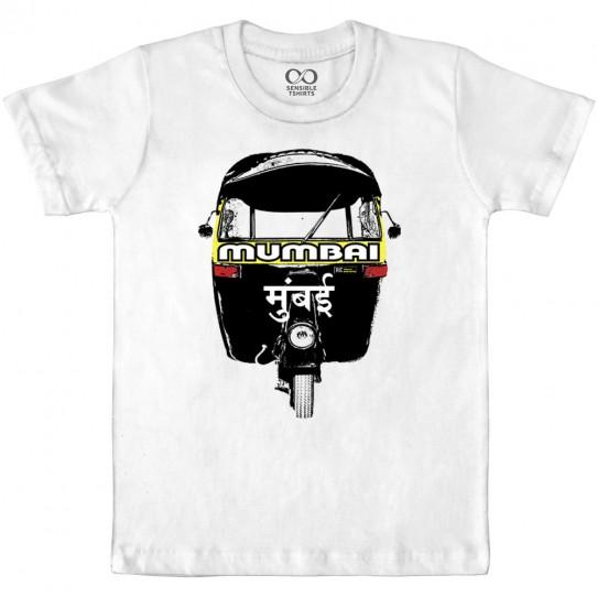 Mumbai Rickshaw - White Kids T-shirt
