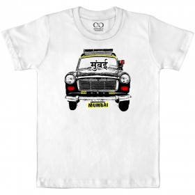 Mumbai Taxi - White Kids T-shirt