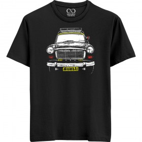 Mumbai Taxi - Black T-shirt