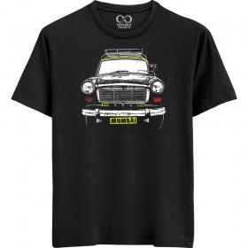 Mumbai Taxi - Black T-shirt
