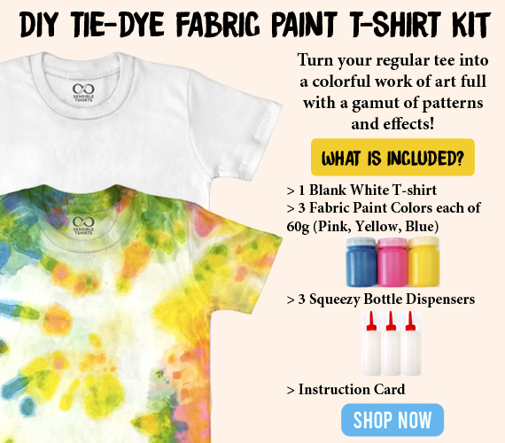 DIY Tie-Dye Fabric Paint T-shirt Kit